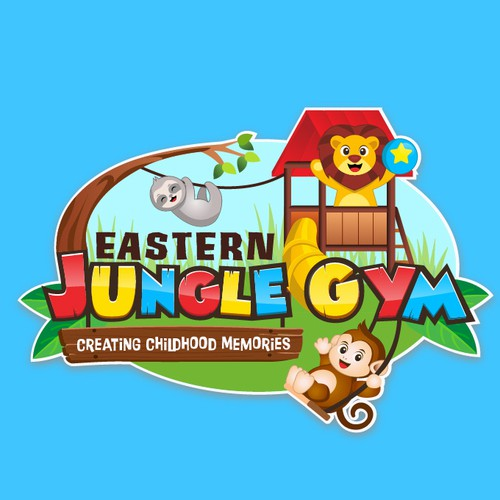 Jungle logo with the title 'Logo for Eastern Jungle Gym'