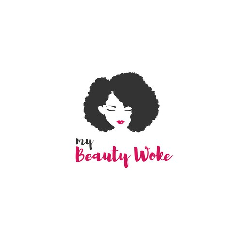Curly design with the title 'My Beauty Woke'