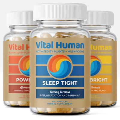 Vital Human Supplements Label Design