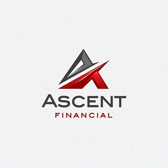 Bank brand with the title 'Design a new brand identity for Ascent Financial'