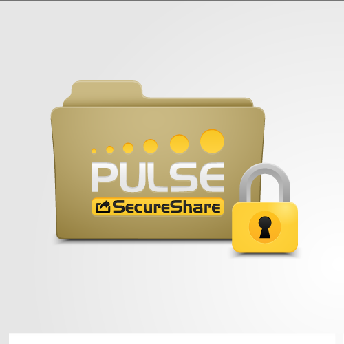 Sharing design with the title 'Pulse SecureShare icon design'
