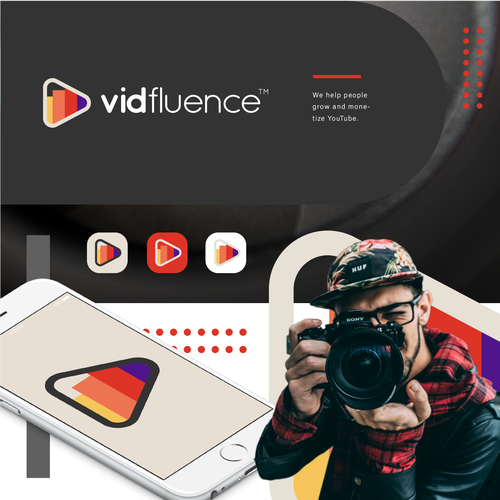 Call center logo with the title 'VidFluence'