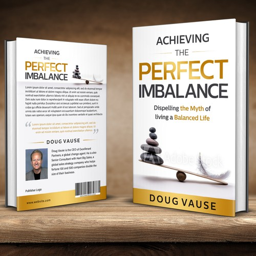 Mythology design with the title 'Achieving the perfect imbalance'