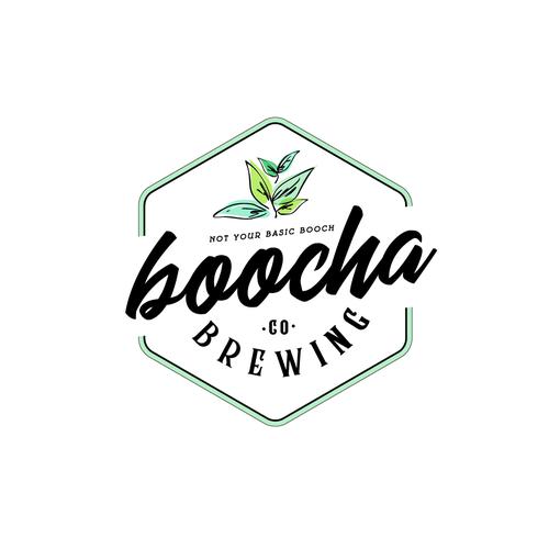 Kombucha logo with the title 'Boocha Brewing'