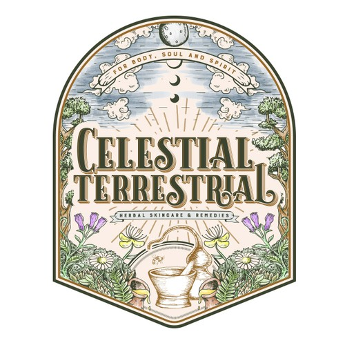 Plant logo with the title 'Celestial Terrestrial'