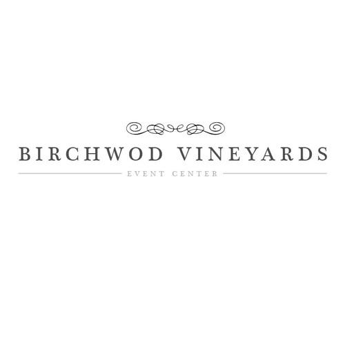 Venue logo with the title 'Birchwood Vineyards Logo Design'