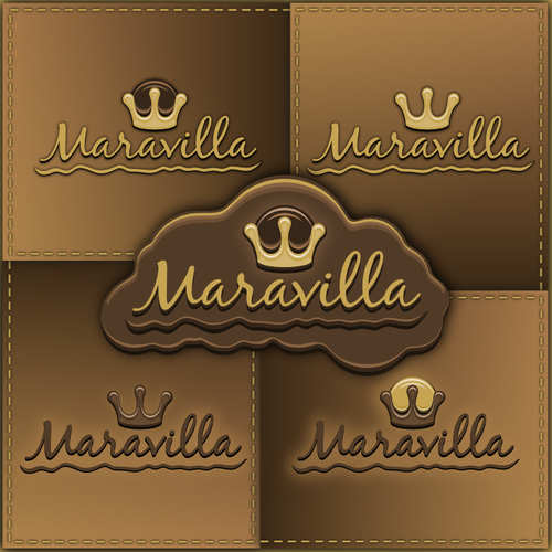 Chocolate brand with the title 'Chocolate Shop Logo'