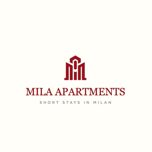 Scaffolding logo with the title 'Mila Apartments'