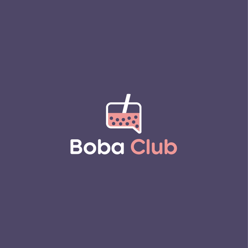 Bubble logo with the title 'Boba Club Logo'
