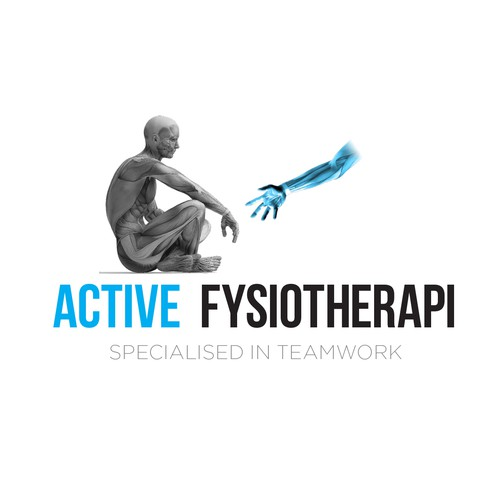 Physical therapy design with the title 'Active Fysiotherapi'