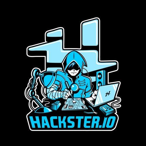 Technology t-shirt with the title 'Cool illustration for Hackster.io T-shirt'