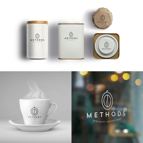 Cafe brand with the title 'Methods - Specialty coffee shop'