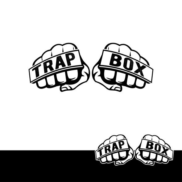 Hip hop logo with the title 'Trap Box Logo'