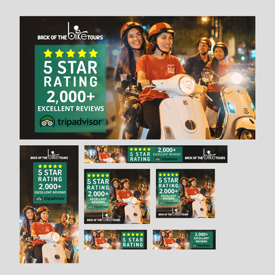 Set of Banner Ad Designs for Back of the Bike Tours