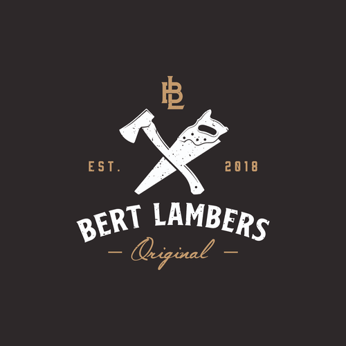 Woodcraft logo with the title 'concept logo for bert lambers'