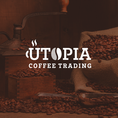 Mug logo with the title 'Clean and Versatile Wordmark Logo for a Coffee Trading Company '
