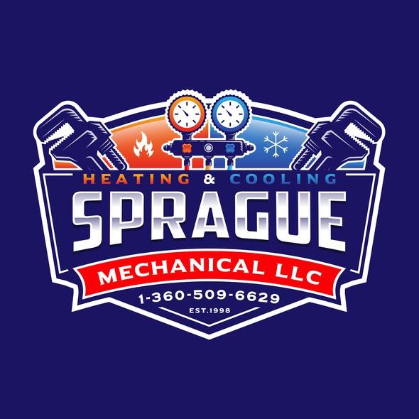 LLC design with the title 'Sprague Mechanical LLC'