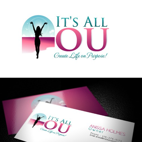Cheerful design with the title 'Vibrant logo for It's All You!'