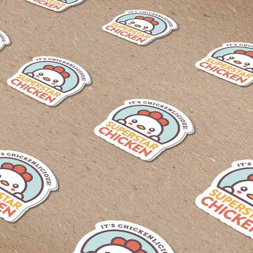 Chicken brand with the title 'Super Star Chicken Stickers'