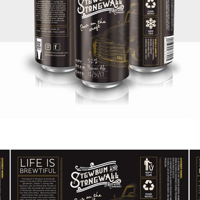 Stewbum and Stonewall Brewing Co. Beer