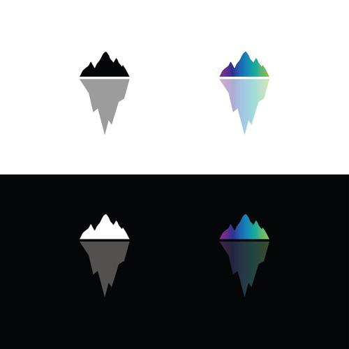 Glacier logo with the title 'Minimal Logo'