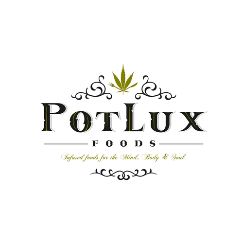 Pot logo with the title 'PotLux'