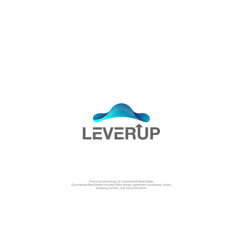 Triangle brand with the title 'logo for lever up'