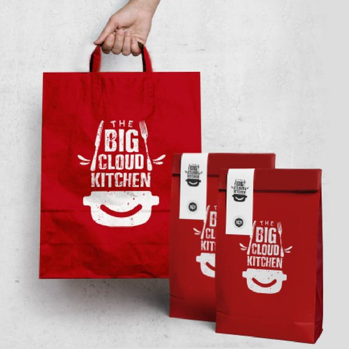Food delivery logo with the title 'The big cloud kitchen'