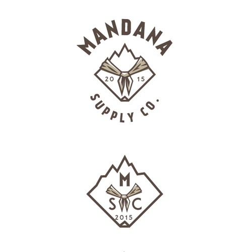 Brown and white logo with the title 'Mandana Supply Co.'