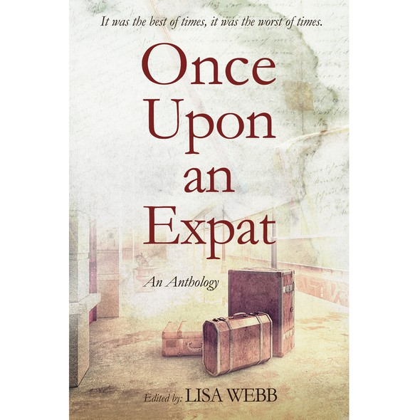 Drama book cover with the title 'Once upon an expat - An anthology of expat stories'