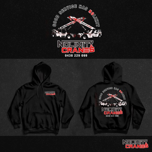 Weathered design with the title 'Hoodie Design for Crane Company'