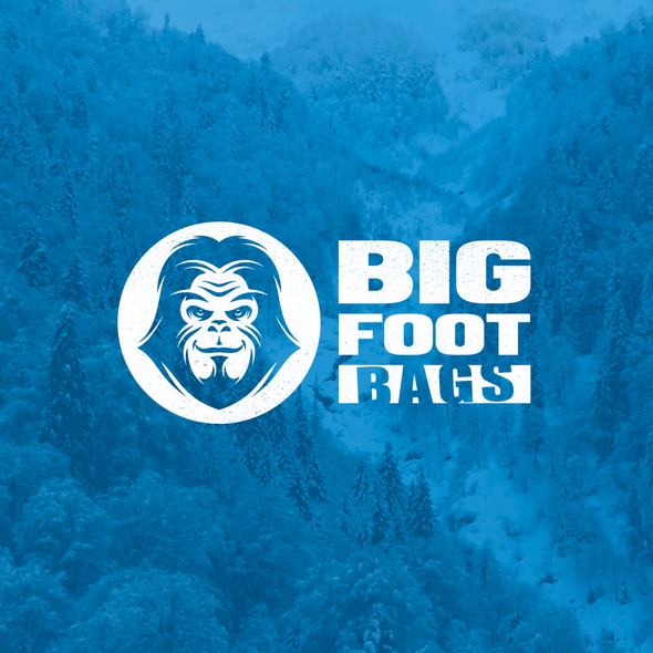 Snowman design with the title 'Bigfoot bags'