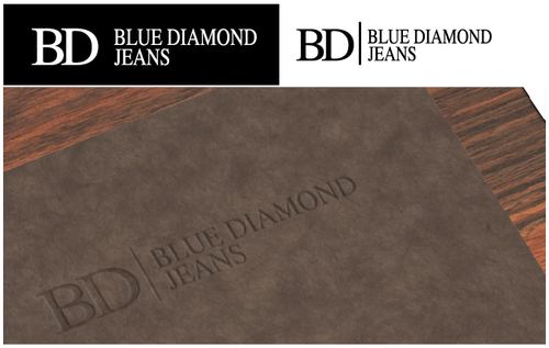 Denim logo with the title 'Blue Diamond Jeans'
