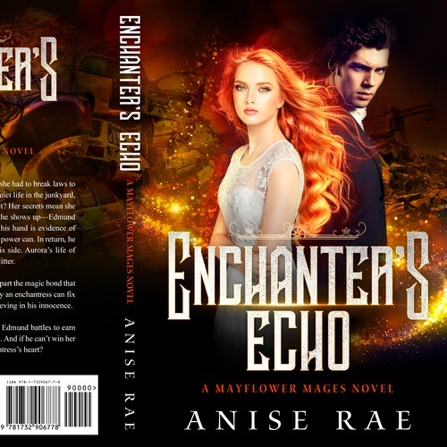 Magic design with the title 'Enchanter's Echo - Paranormal Romance'