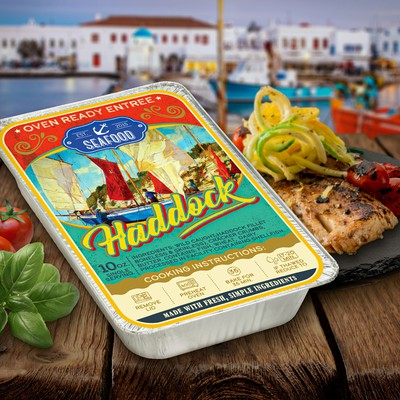 Seafood label concept