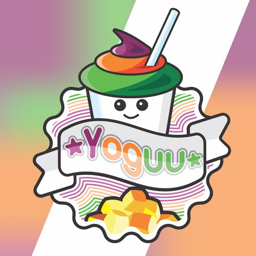 Yogurt logo with the title 'Yoguu'