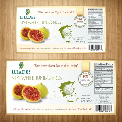 Product labels for Iliades Farm