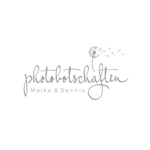 Dandelion design with the title 'Logo design for a couple of the two photographers'