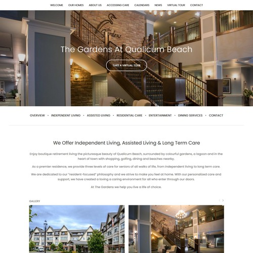 Hotel design with the title 'Squarespace Website Redesign - The Care Group '
