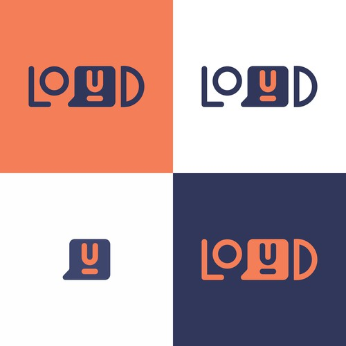 Loud logo with the title 'playful concept logo'
