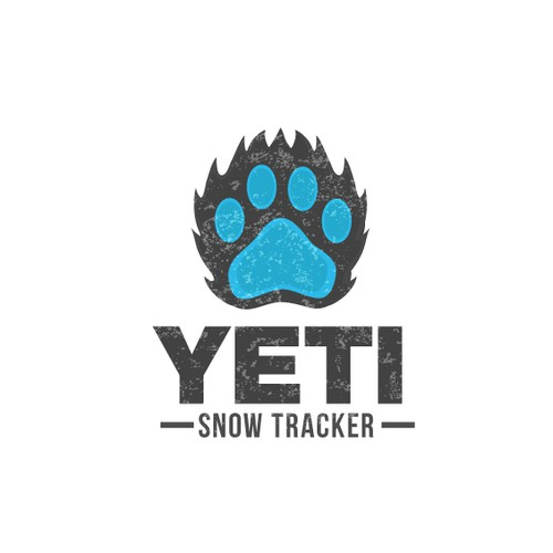 Snow logo with the title 'Awesome Logo Required - Yeti SnowTracker'