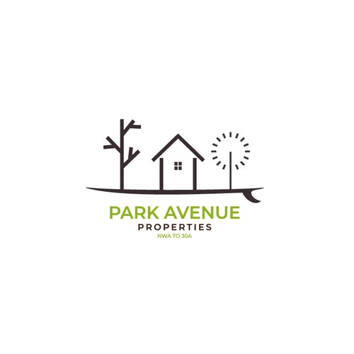 Skating design with the title 'Park Avenue Logo'
