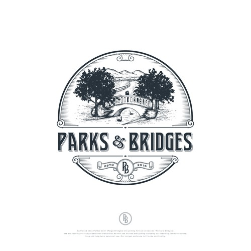 Classic design with the title 'Parks & Bridges'