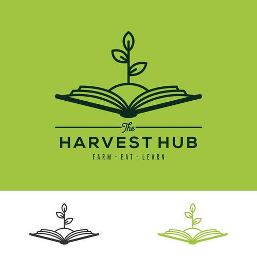 Harvest logo with the title 'Proposal logo concept for farm factory'
