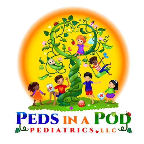 Child brand with the title 'Pediatrics Logo'