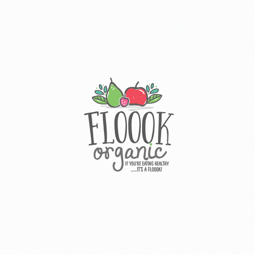 Healthy lifestyle logo with the title 'Healthy and Fresh organic snacks'