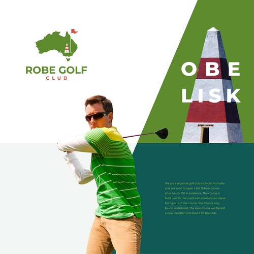 Tower logo with the title ' Robe Golf Club'