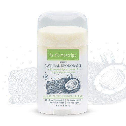 Honey design with the title 'Natural Deodorant'