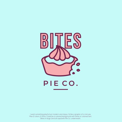 Pie design with the title 'Bites Pie Co.'