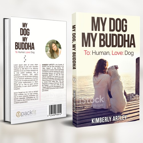 "Canine design with the title 'Book Cover for ""My Dog, My Buddha""'"